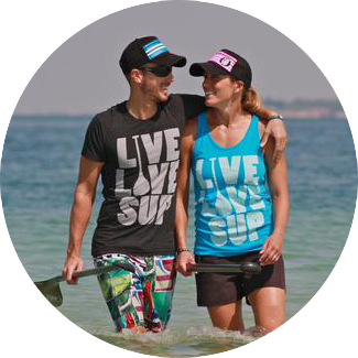 LIve Love SUP - Stand Up Paddleboard - World Ambassadors - Jen Scully and Nick Yates
