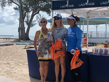 Kat Pyne 1st place win at Race for the Reef Live Love SUP