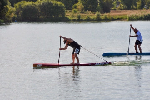 Bruce Smith Fanatic UK Stand Up Paddle Race - Live Love SUP Ambassador