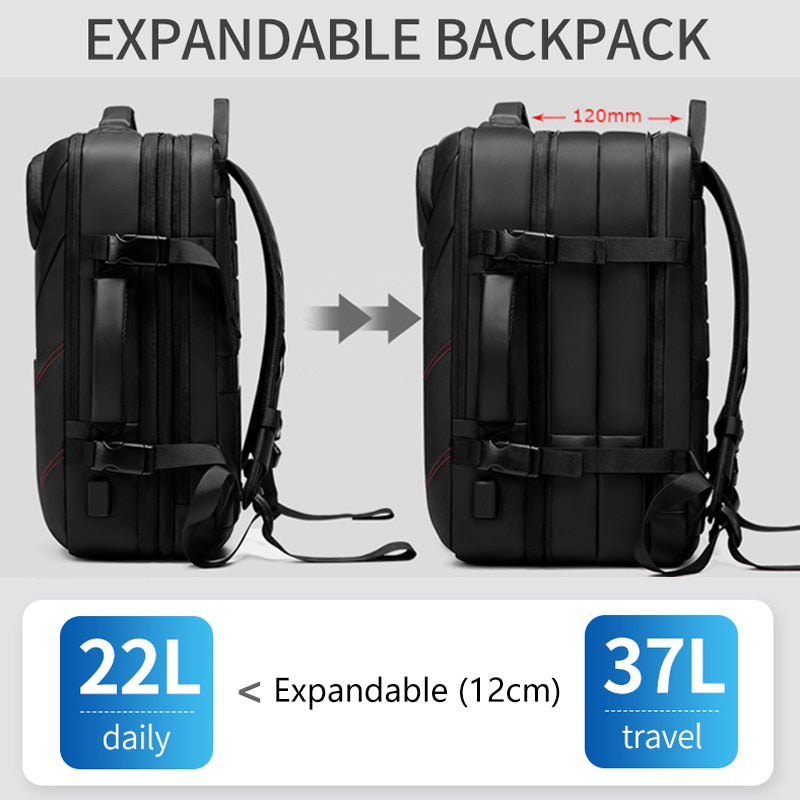 Expandable Men Travel Backpack
