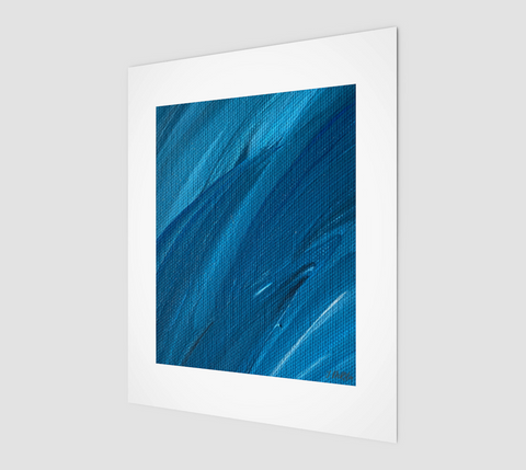 "Abstract Sea 8"" x 10"" Print on high quality matte paper by Vib and Sol Designs"