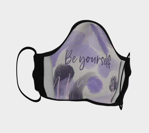 Vib and Sol Designs Be Yourself Face Mask with Adjustable Nose Piece back