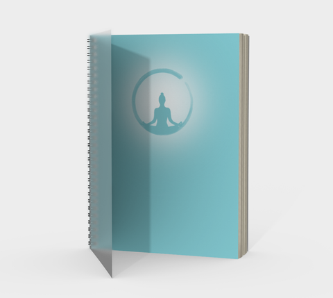 Vib and Sol Designs Teal Meditation Spiral Mindfulness Journal with Protected Cover
