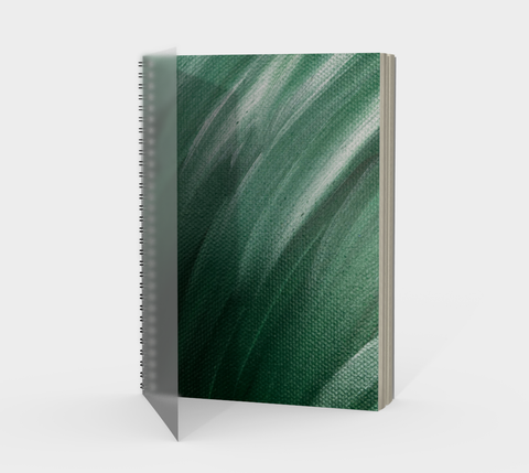 Vib and Sol Designs Mindfulness Journal in Forest handpainted by Jessica DeRita Front Cover