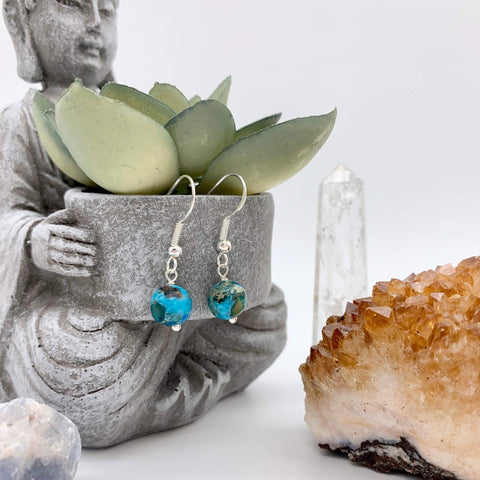 Soothing Sea Jasper Gemstone Earrings