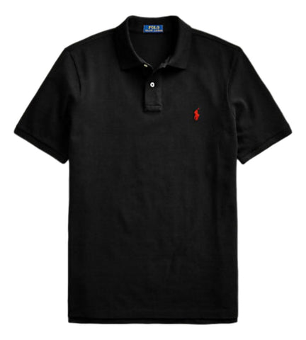 Men's Polo Top in Classic Fit Black