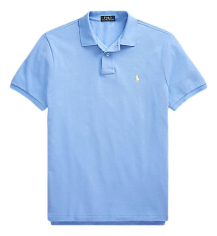 Men's Polo Top in Classic Fit Ink Hrb Blue