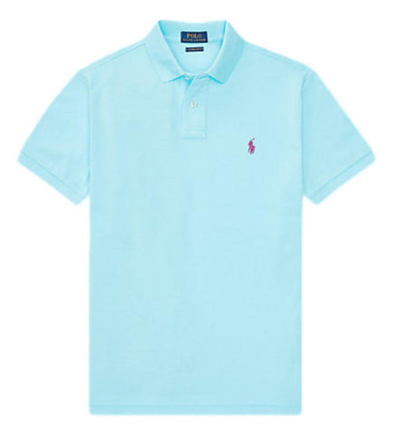 Men's Polo Top in Classic Fit Ink Hammond Blue