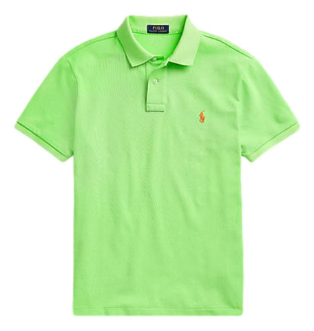 Men's Polo Top in Classic Fit Bright Green