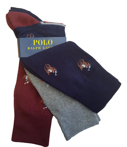 Men's Socks with Allover Pony 3 Pack