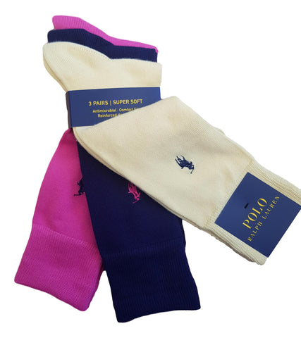 Men's Socks 3Pack - Yellow/Navy/Cerise