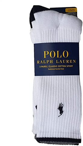 Men's Classic Sports Socks 3 Pack White