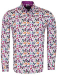 Butterfly Print Cotton Shirt SL6707