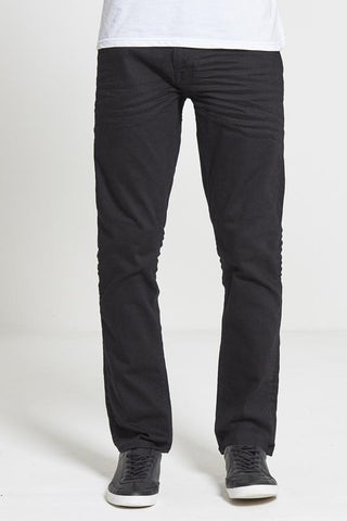 Hunter Straight Fit Stretch Jeans in True Black