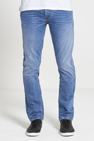 Hunter Straight Fit Stretch Jeans in Light Wash