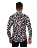 Jasmine Floral Black Print Pure Cotton Shirt SL6904