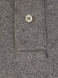 Men's Polo Top in Classic Fit Grey Heather
