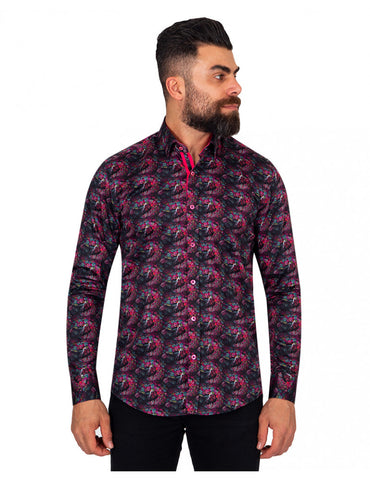 Peacock Print Cotton Shirt SL6907