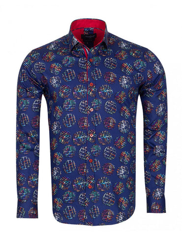 Frost Multicolour Print Pure Cotton Shirt SL6722