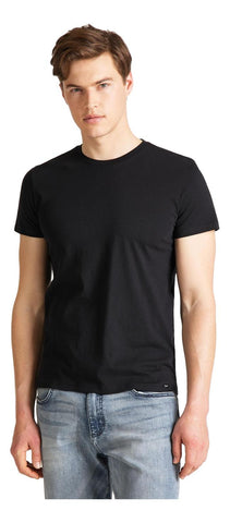 Lee Men's Twin Pack Crew T-Shirt Black