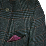 Marc Darcy  Luca Tweed Check Blazer Navy