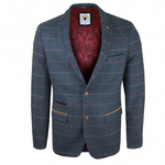 Marc Darcy Eton Check Blazer Blue