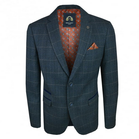 Marc Darcy  Scott Check Blazer Blue