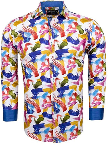 Artist Paint Print Cotton Shirt SL6534