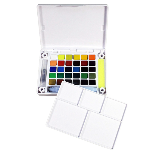 Koi Watercolor Field Sketch Box Kit - 30 Colors