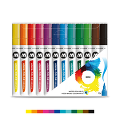 AQUA COLOR Brush - Basic Set 1 (12-pc)