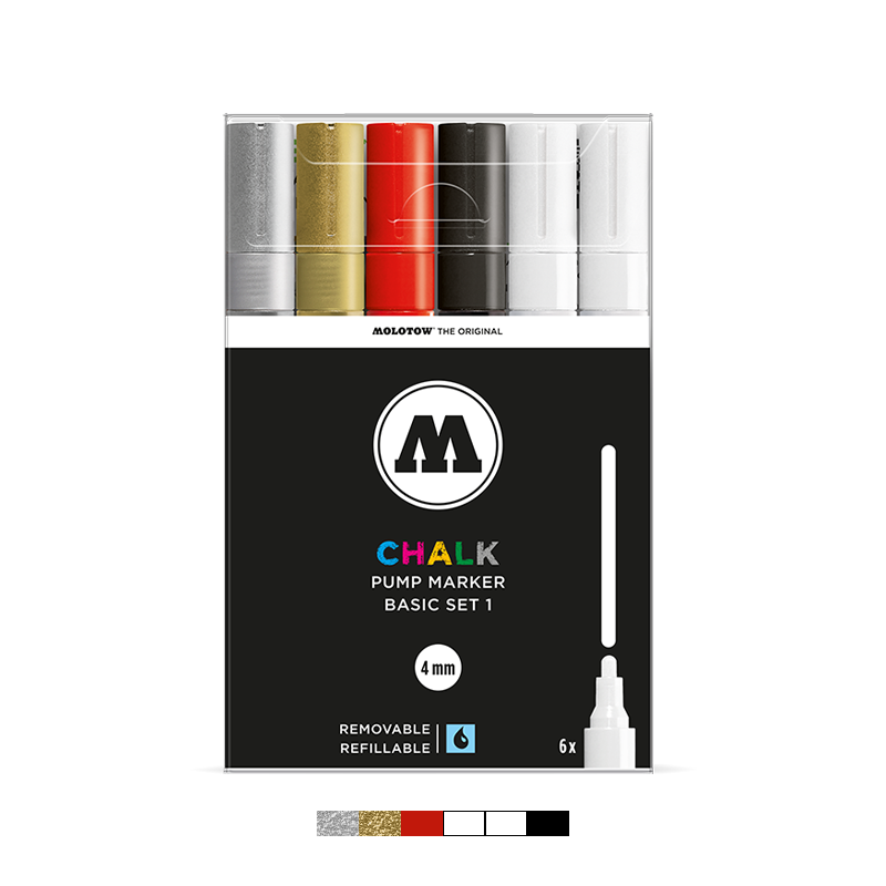 CHALK 4mm Marker Set - Basic Set 1
