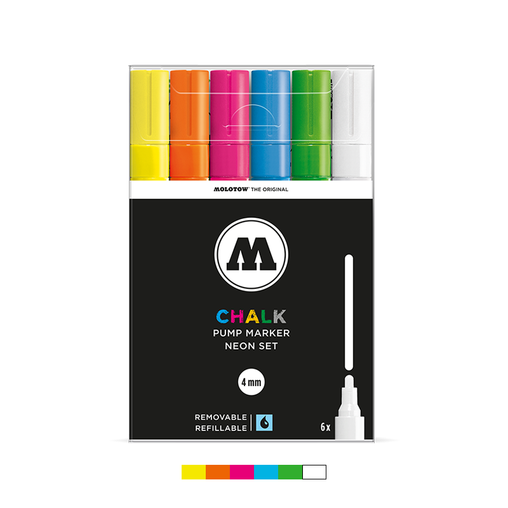 CHALK 4mm Marker Set - Neon