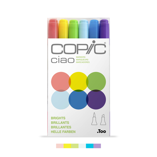 Ciao Dual-Tip Marker Set - Brights (6-pc)