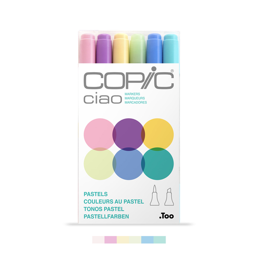 Ciao Dual-Tip Marker Set - Pastels (6-pc)