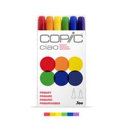 Ciao Dual-Tip Marker Set - Primary (6-pc)