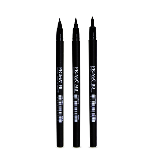 Pigma Professional Brush Pen Combo Set (3-pc)