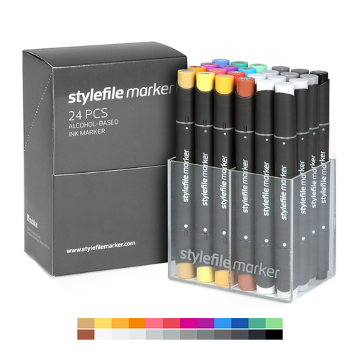 Classic Dual-Tip Marker Set - Main A (24-pc)