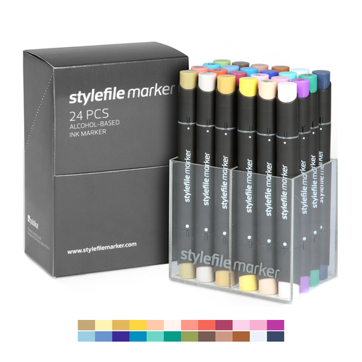 Classic Dual-Tip Marker Set - Main B (24-pc)