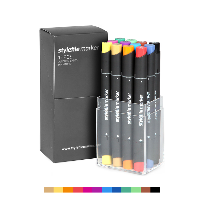 Classic Dual-Tip Marker Set - Main A (12-pc)