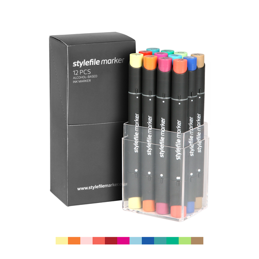 Classic Dual-Tip Marker Set - Main B (12-pc)