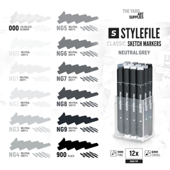 Classic Dual-Tip Marker Set - Neutral Grey (12-pc)