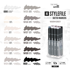 Classic Dual-Tip Marker Set - Warm Grey (12-pc)