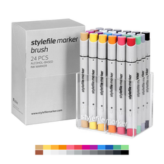 Brush Dual-Tip Marker Set - Main A (24-pc)