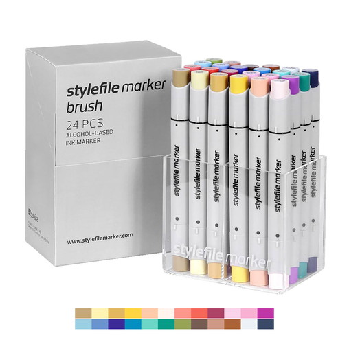 Brush Dual-Tip Marker Set - Main B (24-pc)