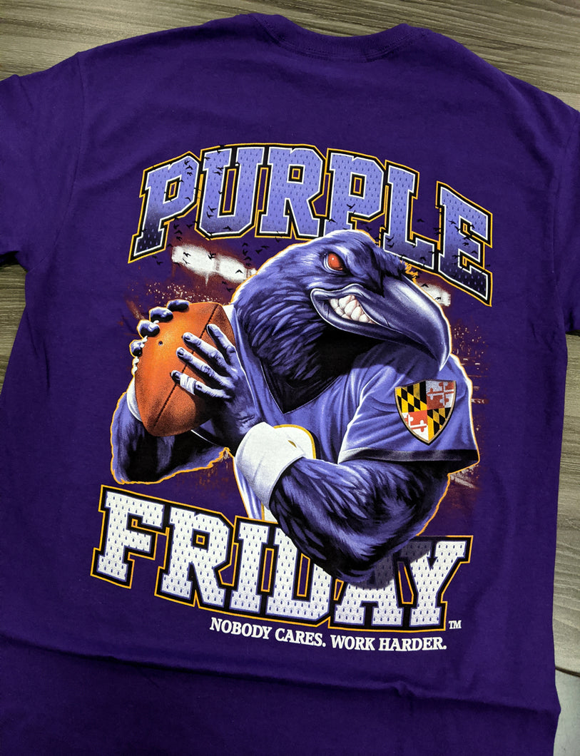 Ravens Nobody Cares Work Harder Purple Shirt