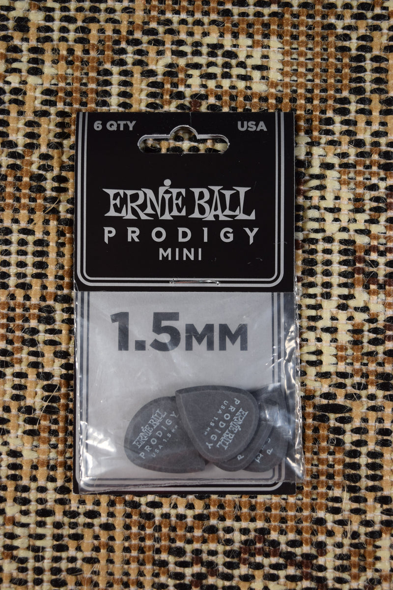 Ernie Ball Prodigy Mini Pic 1.5mm Black 6 pk