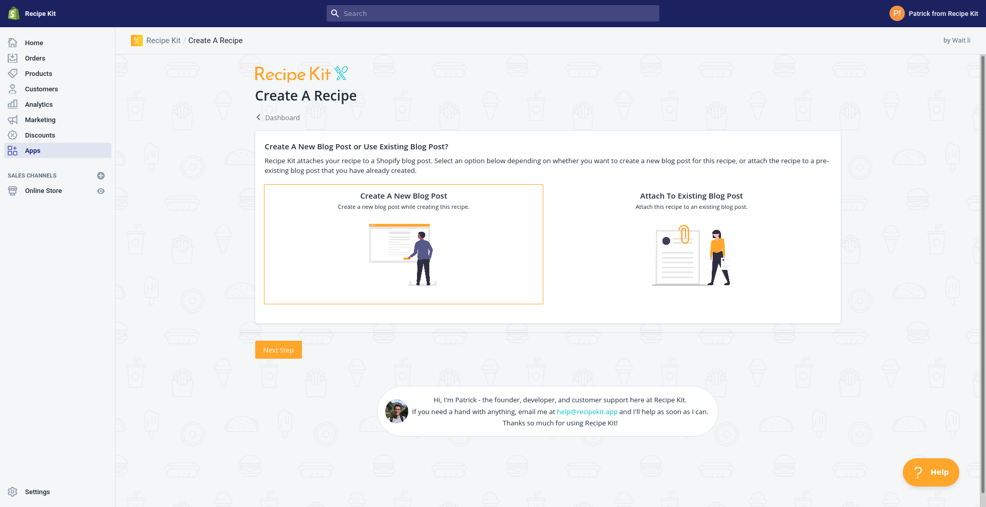 Create a recipe blog post in Shopify with Recipe Kit