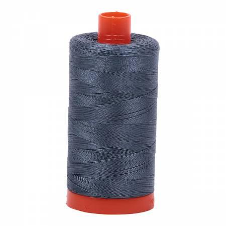 Mako Cotton Thread Solid 50wt 1422yds Med Grey 1158