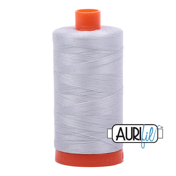 Aurifil Dove Mako Cotton Thread Solid 50wt 1422yds 2600