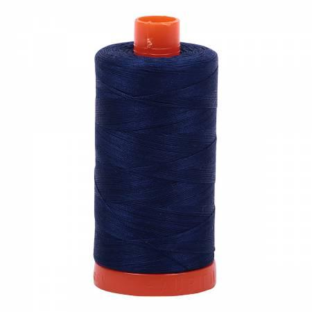 Mako Cotton Thread Solid 50wt 1422yds Dark Navy 2784